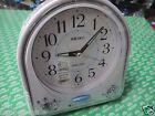Seiko Musical Alarm Clock white color 18 melody Lumibrite Snooze Sweep QHP003W