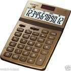 [CASIO] DESK GOLD color extra large TILT display Stylish calculator JW-200TW-GD