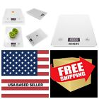 Digital Touch Kitchen Scale 12 lbs Edition Tempered Glass in Clean White