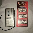 Sony VOR Microcassette-corder Recorder Model M-530V w/5 Microcassette Tapes