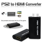 PS2 to HDMI Audio Video AV Adapter Converter 3.5mm Audio Output for HDTV Hot