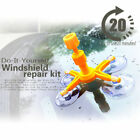Yellow Car Windscreen Windshield Repair Tool Kit Auto Wind Glass For Chip Crack
