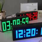 Snooze Digital LED Alarm Wall Clock Table Desktop Bedroom Date Temperature Clock