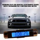 Fashion Clip LCD Digital Electronic Clock Auto Thermometer Temperature Meter MU