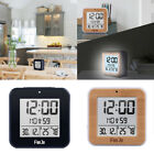 LCD Digital Alarm Clock Thermometer Temperature 24H Display Desk Watch Times