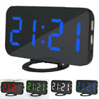 Nice LED Digital Snooze Dual USB Phone Charger Alarm Clock Bright Home Bed P