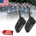 2 Pcs 1200M BT Motorcycle Helmet Bluetooth Headset Motorbike Intercom 6-Rider US