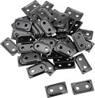 Woody's Double Digger Aluminum Support Plates Black -5/16in. Thread #ADD2-3810-B