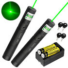 50 Miles 2*Green Laser Pointer Teaching Pen 1MW 532nm Light+Battery+Charger Whol