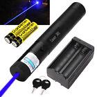 50Miles Blue-Purple Laser Pointer Pen Visible Beam Lazer + 18650 Battery&Charger