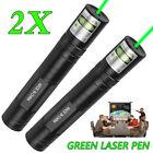 2PC 532nm Green Laser Pointer 1mw Pen Visible Beam 16340 Lazer Pen Light