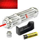 650nm Red Zoom Laser Pointer Pen 1mw Visible Beam &Charger&18650 Li-ion Battery
