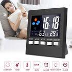 LCD Mini Digital Thermometer Hygrometer Humidity Room Weather Meter Indoor Clock