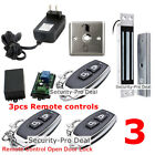 DIY Door Access Control System+Door Magnetic Lock+3PCS Wireless Receiver&Remotes