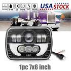 "7X6"" 5X7"" 120W H6054 Halo Red DRL Sealed Beam LED Headlight Projector headlamp"
