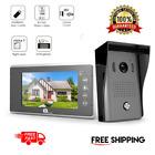 "7"" Video Door Phone Intercom Doorbell Home Security System Color Monitor and HD"