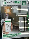 SimpleHome XWS7-1001-WHT Wi-Fi Smart Controlled Wall Outlet, White New