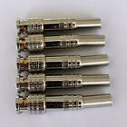 5pcs Gold BNC Male Video Plug Coupler Connector to screw for RG59 Cable Adapter