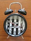 Vintage OLD STYLE Alarm Clock MINI Twin Metal Bell Italy