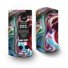Skin Decal for Wismec Reuleaux RX Gen3 Dual Vape / Paint Mix sirls red green