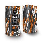 Skin Decal for Wismec Reuleaux RX Gen3 Dual Vape / Puzzle Orange Grey trippy