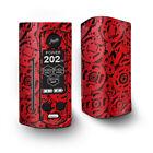 Skin Decal for Wismec Reuleaux RX Gen3 Dual Vape / Red Gears Cog Cogs Steam punk