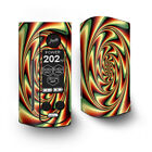 Skin Decal for Wismec Reuleaux RX Gen3 Dual Vape / trippy motion moving swirl i