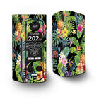 Skin Decal for Wismec Reuleaux RX Gen3 Dual Vape / tropical flowers pineapple h