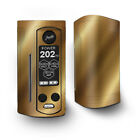 Skin Decal for Wismec Reuleaux RX Gen3 Dual Vape / Gold Pattern Shiney