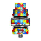 Skin Decal for Smok TFV8 Big Baby V2 Tank / colorful puzzle pieces autism