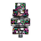 Skin Decal for Smok TFV8 Big Baby V2 Tank / peace and  love guitar rainbow