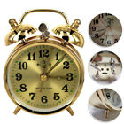 Retro Classic Bell Mechanical Alarm Clock For Home Office Metal Gold