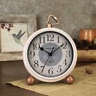 Retro Large Number Non ticking Clock Silent Quartz Analog Desk Alarm Clocks