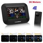 Digital Color Weather Station Forecast Alarm Clock Wireless In/Outdoor Sensor US