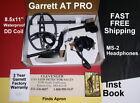 Garrett AT Pro Metal Detector with MS-2 Headphones  *  Waterproof DD *  Refurb
