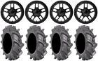 "XS827 RS3 18"" Wheels 35"" BKT AT 171 Tires Honda Pioneer 1000 / Talon"