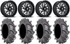 "Fuel Triton Black 18"" Wheels 35"" BKT AT 171 Tires Polaris Ranger XP 9/1K"