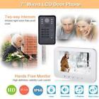 Password RFID Access Control 7in Video Visual Night Vision Intercom Doorbell Kit