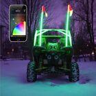 XK Glow 2x XKchrome App Control RGB LED Whip Lights UTV Kit