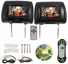 "7"" Digital LCD AV Headrest DVD /USB/SD/ Car Audio Player Video Auto Monitor"