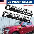2015-2016 Ford F-150 Platinum Fender Emblem Chrome Passenger & Driver Sides OEM