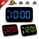 Modern Digital Snooze LED Screen Alarm Clock Voice Control USB Clock 3 Colors
