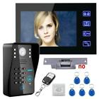 Video Door Phone Intercom System Kit+ Electric Strike Lock+
