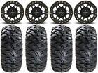 "Method 405 15"" Bdlk Black (4+3) Wheels 30"" Kahuna Tires RZR XP 1000 / PRO XP"