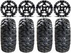 "MSA Black Axe 15"" UTV Wheels 30"" Kahuna Tires Kawasaki Teryx Mule"