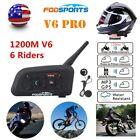 Fodsports Motorcycle Helmet Intercom Moto Bluetooth Helmet Headset 6 Rider 1200M