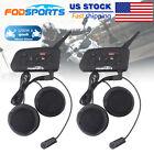 2pcs V6 Pro Motorcycle Helmet Bluetooth Headset Intercom 6 Riders BT Interphone