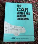 1991 FORD FIESTA WIRING FACTORY DIAGRAMS INCLUDES VACUUM DIAGRAMS