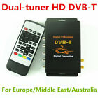 HD DVB-T Dual-tuner Car Digital TV Receiver Box Compatible with MPEG2 and MPEG4