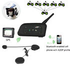 1200m 6Riders BT Intercom Bluetooth Motorcycle Helmet Interphone Headset V6 H1K1